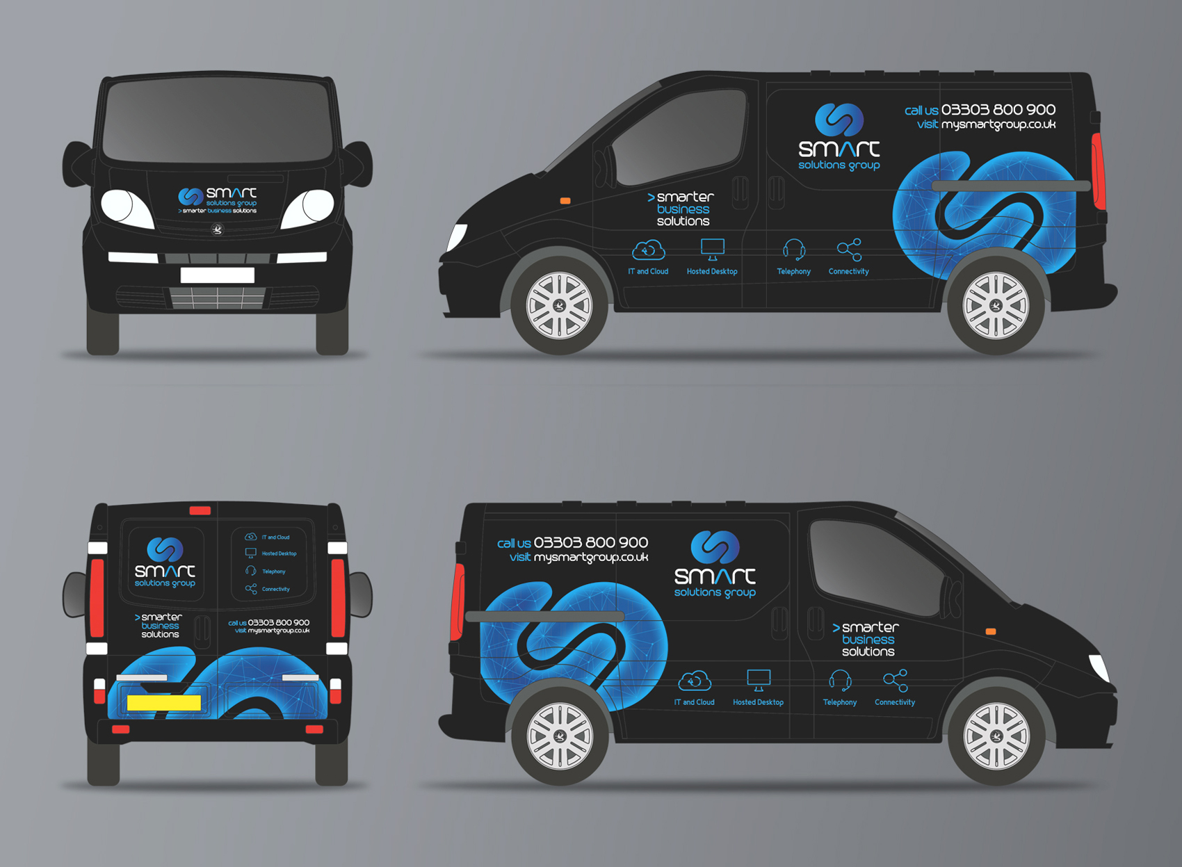 Smart Solutions Group Vehicle Graphics